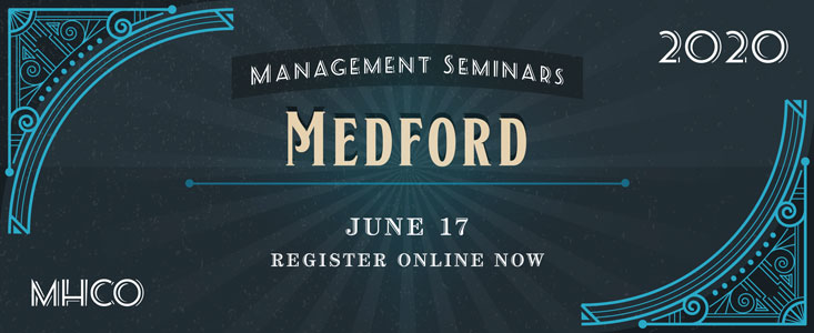 2020 Management Seminars: Medford - Click to Register